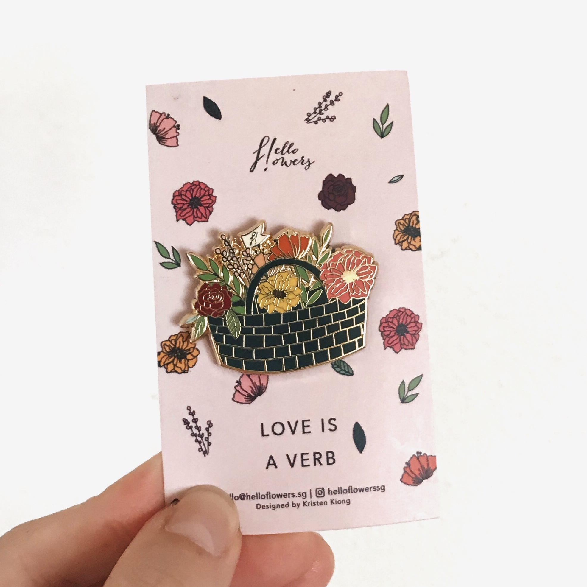 Love is a Verb | Brooch