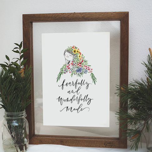 Fearfully and Wonderfully Made | A4 Print
