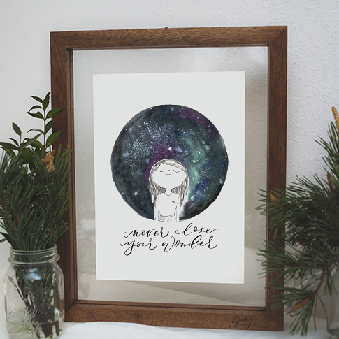 Never Lose Your Wonder| A4 Print